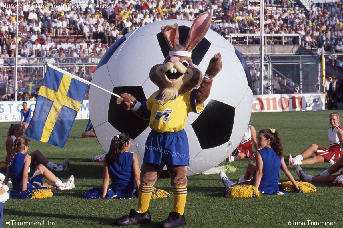 Mascote da Euro 92. FOTO: Acervo Juha Tamminen